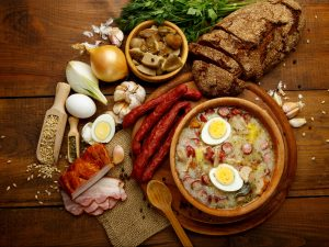 polandshiok.sg Traditional Zurek with sausage and egg, white borscht, polish homemade Easter soup